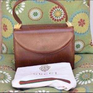 Gucci Vintage Brown Handbag